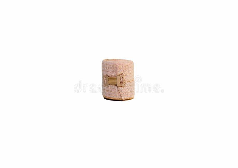 Fin élastique de brun de bandage vers le haut de fond de texture images stock