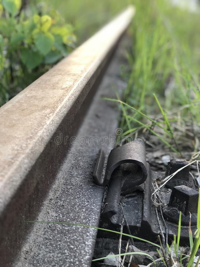 Fin abandonnée de voie ferrée  photos libres de droits