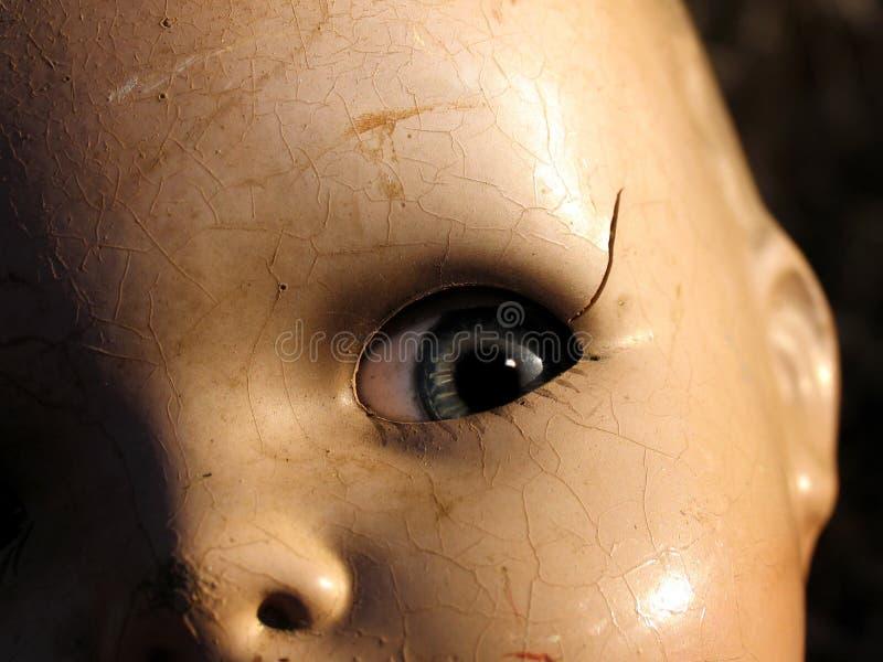 Fin antique de poupée vers le haut photos libres de droits