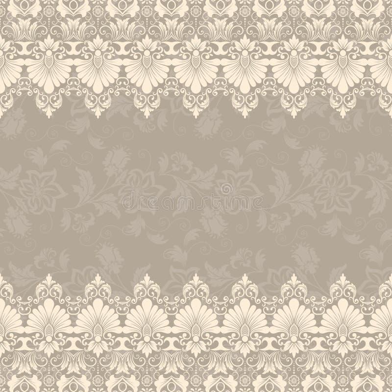 Fin blom- fyrkantig ram för vektor Dekorativ beståndsdel för inbjudningar och kort Gränsbeståndsdel vektor illustrationer