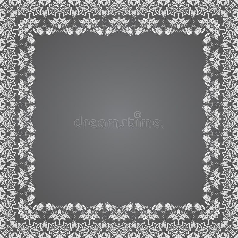 Fin blom- fyrkantig ram för vektor Dekorativ beståndsdel för inbjudningar och kort Gränsbeståndsdel stock illustrationer