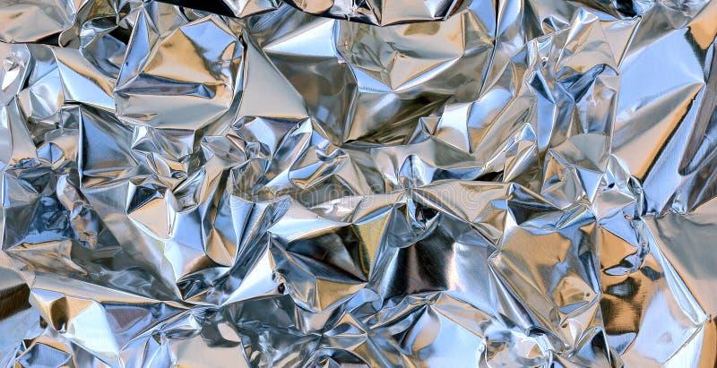 Fin chiffonnée d'aluminium  photos libres de droits