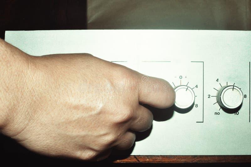 Fin d'amplificateur de cru vers le haut photographie stock