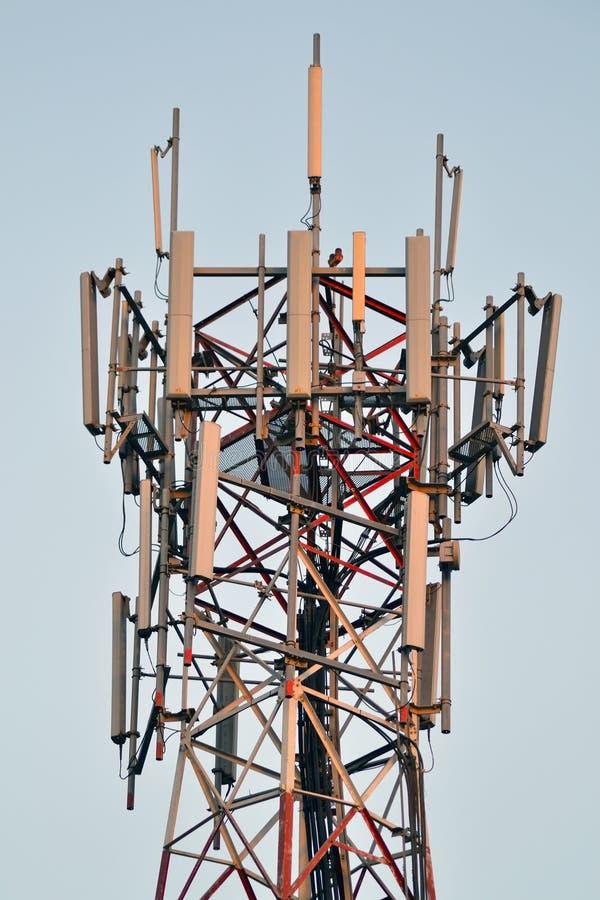 Fin d'antenne d'émission de fléau vers le haut photographie stock