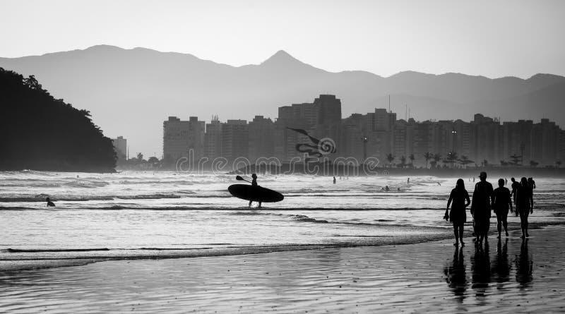 Fin d'après-midi dans la ville de Santos images stock
