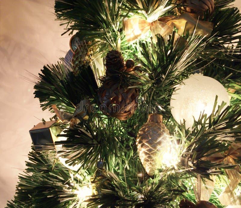 Fin d'arbre de Noël vers le haut photographie stock