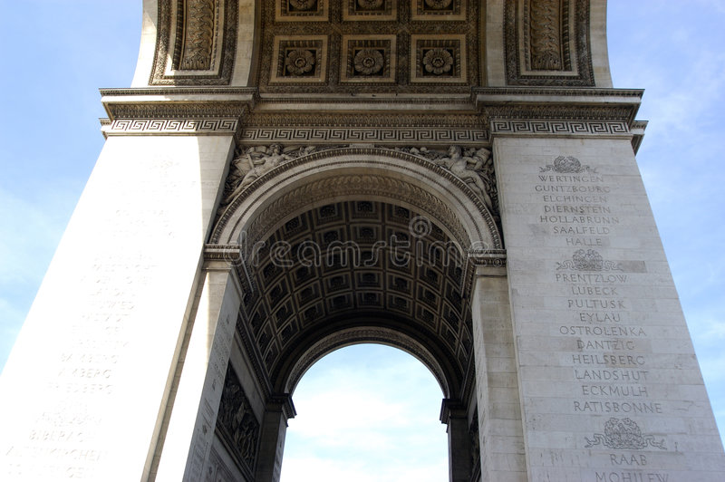Fin D Arc De Triomphe Image libre de droits
