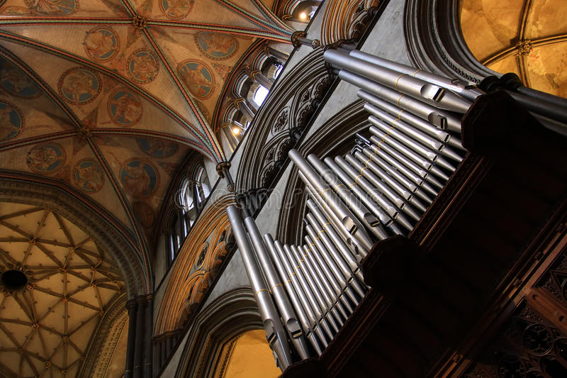 Fin d'organe de cathédrale  photo stock