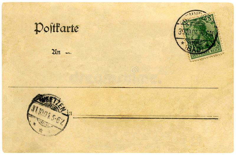 Fin de carte postale de vintage  images stock