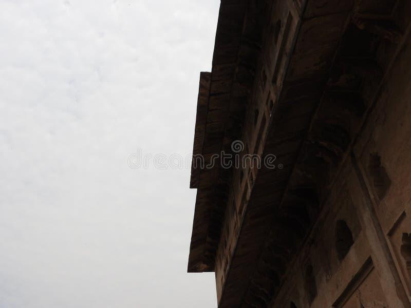 Fin de Chhatri vers le haut de temps clair, Orchha, Madhya Pradesh, Inde images libres de droits