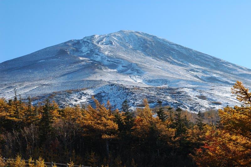 Fin de Fuji de support vers le haut photo stock