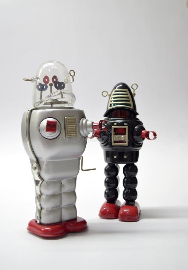 Fin de jouet de vintage d'équipe de robot  photos stock