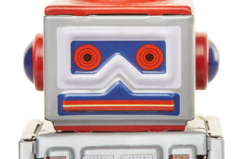 Fin de jouet de vintage de robot image stock