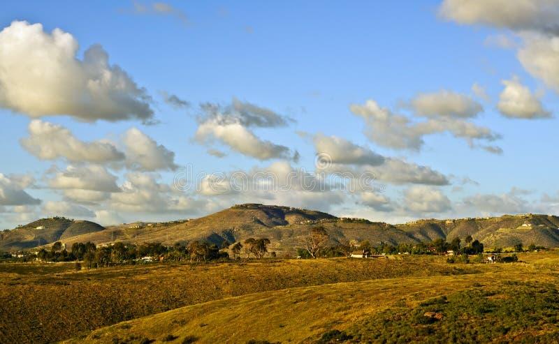 Fin de l'après-midi, comté suburbain de San Diego photographie stock