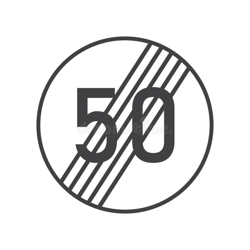 Fin de la limite de vitesse maximale illustration libre de droits