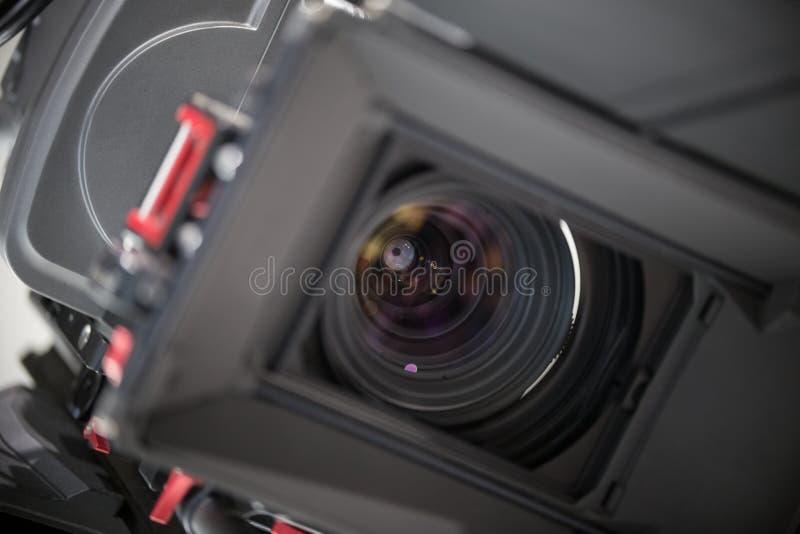 Fin de lense de caméra de télévision  images libres de droits