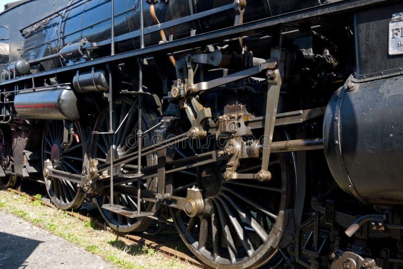 Fin de locomotive à vapeur vers le haut photos libres de droits
