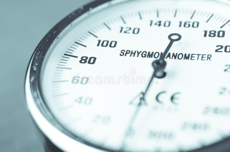 Fin de mètre de tension artérielle de Sphygmomanometer vers le haut de détail photo stock