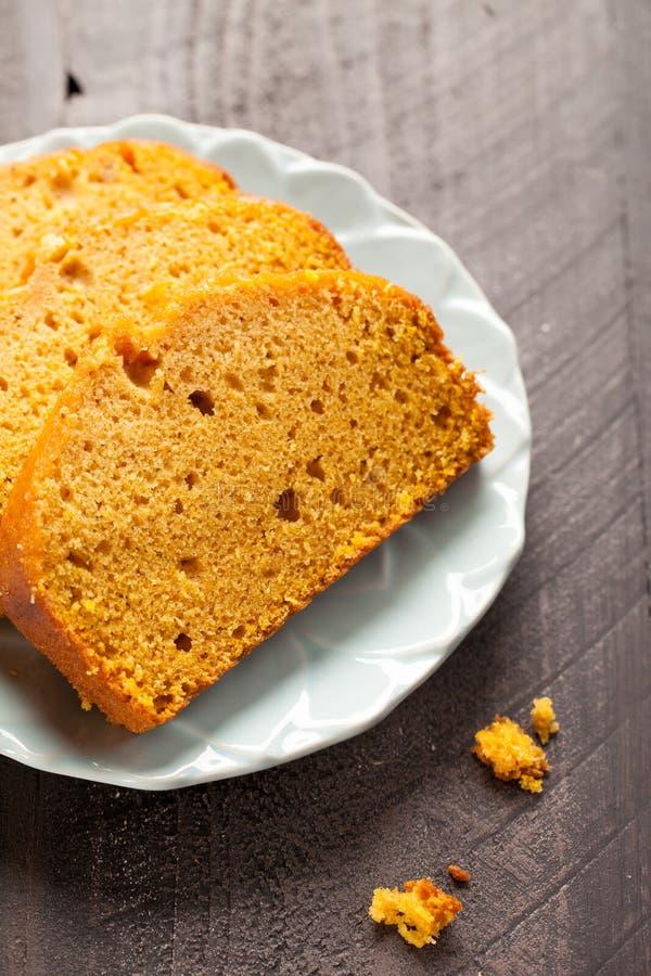 Fin de pain de potiron vers le haut photographie stock