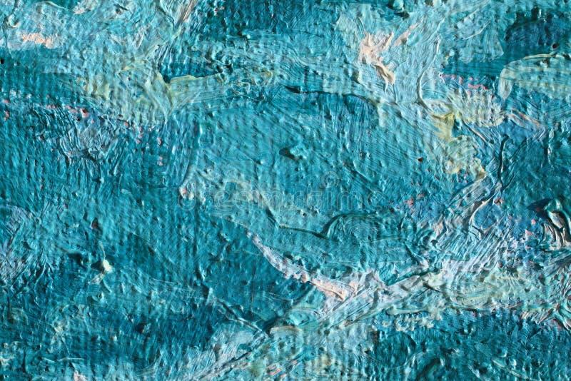 Fin de peinture à l'huile vers le haut de texture avec des courses de brosse photographie stock libre de droits