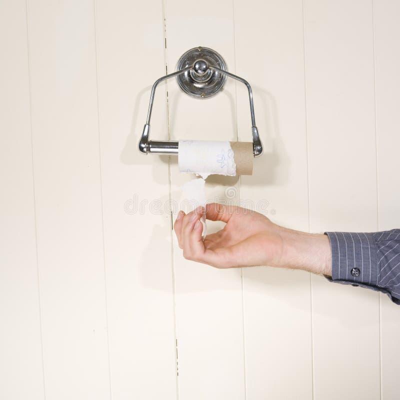 Fin de rouleau de papier hygiénique photo libre de droits