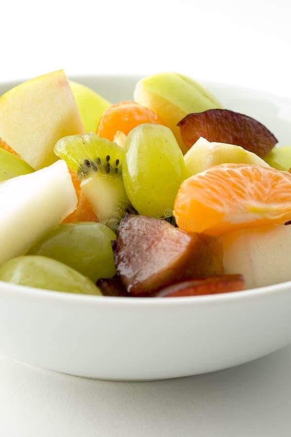 Fin de salade de fruits vers le haut photos libres de droits