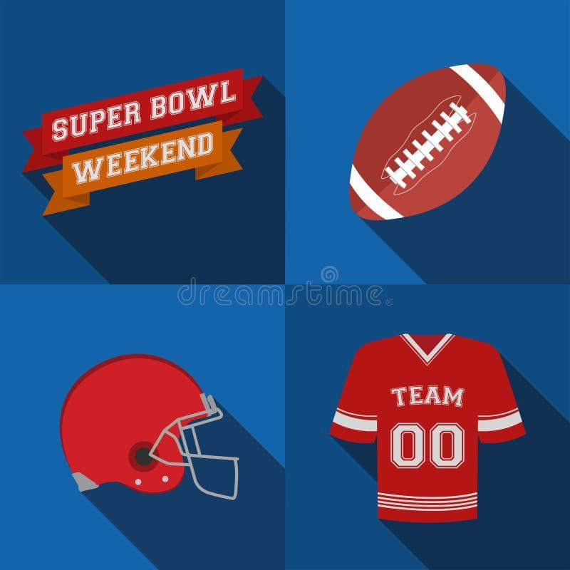 Fin de semana del Super Bowl libre illustration