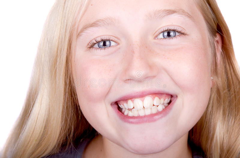 Fin de sourire de l'adolescence vers le haut photos stock