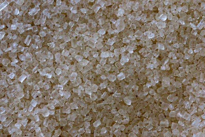 Fin de sucre roux vers le haut de macro cristaux photographie stock