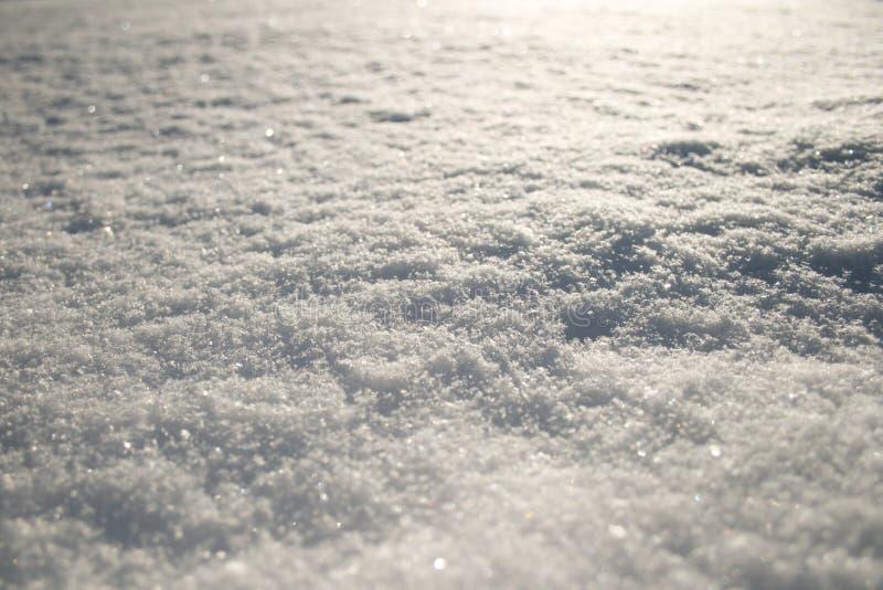 Fin de surface de neige, fond photographie stock