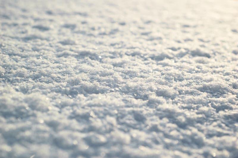 Fin de surface de neige  Texture blanche fraîche de neige photo libre de droits