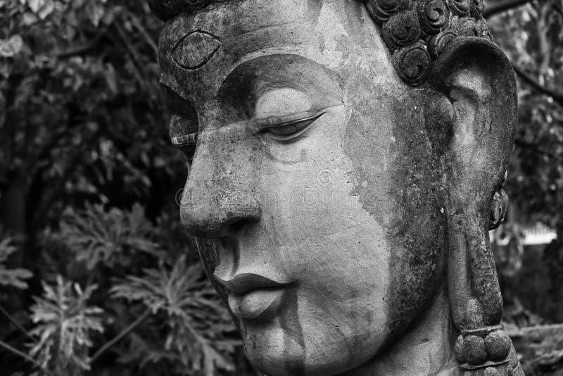 Fin de tête de Bouddha vers le haut photos libres de droits