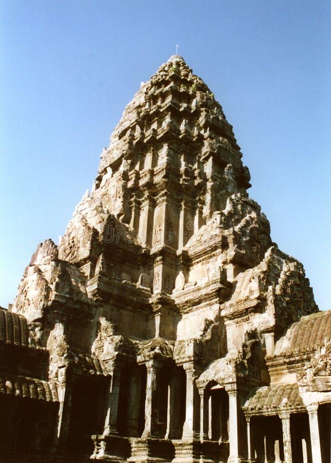 Fin De Wat D Angkor Vers Le Haut Photographie stock libre de droits