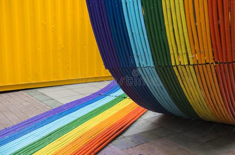 Fin en bambou colorée de texture  images libres de droits