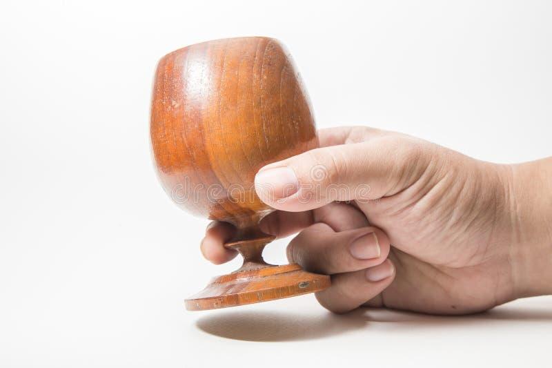 fin en bois d'image de Graal  image libre de droits