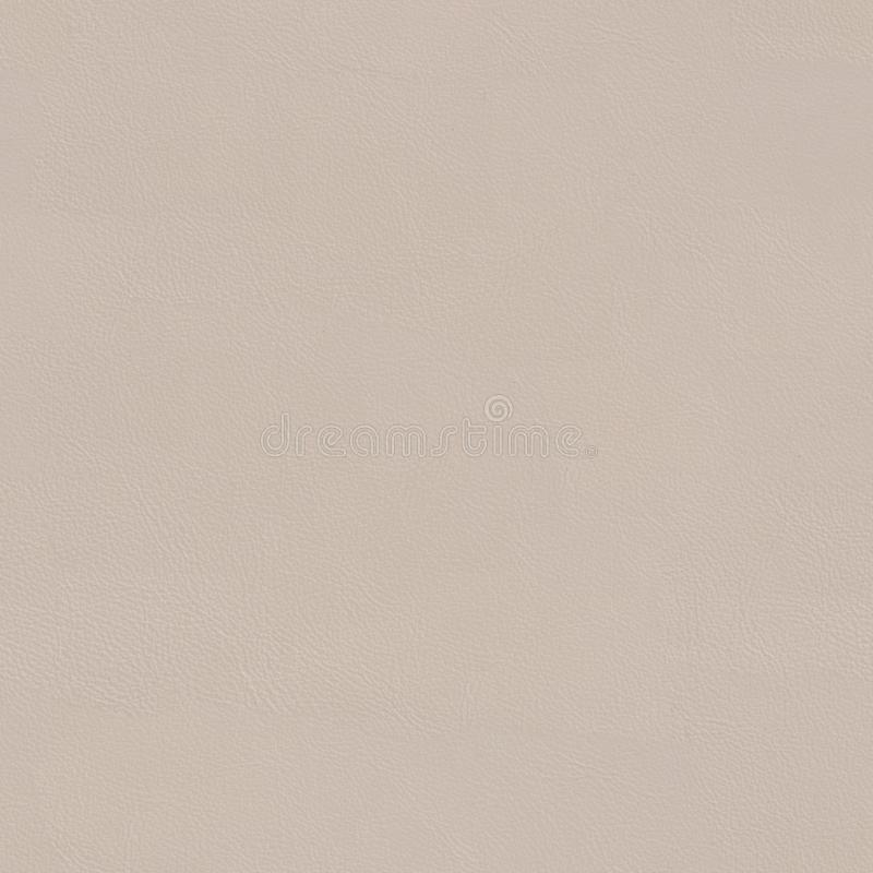 Fin en cuir beige de texture vers le haut Fond carré sans couture, tuile image libre de droits