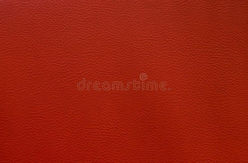Fin en cuir rouge artificielle vers le haut modèle de fond de texture de petit photographie stock libre de droits