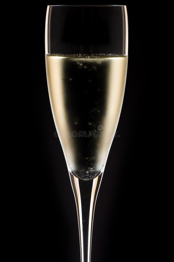 Fin en verre de Champagne vers le haut photos libres de droits