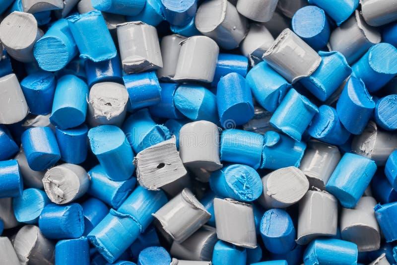 Fin extrême vers le haut d'image des granules de polypropylène photo stock