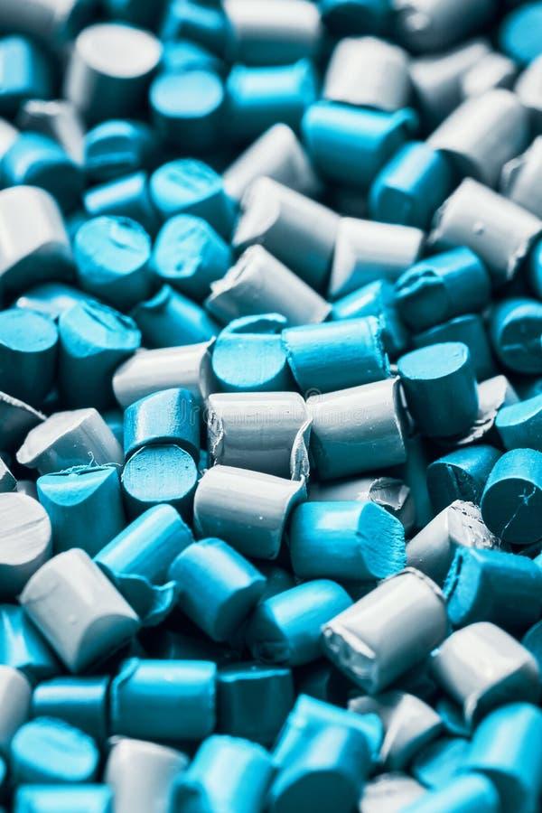 Fin extrême vers le haut d'image des granules de polypropylène images libres de droits