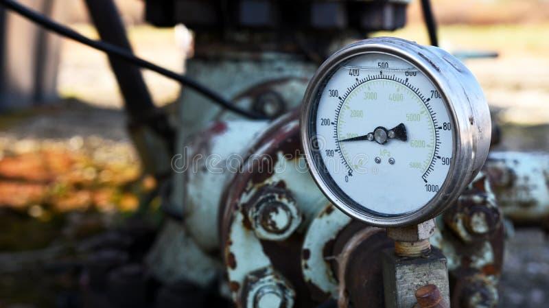 Fin industrielle d'indicateur de pression  image libre de droits