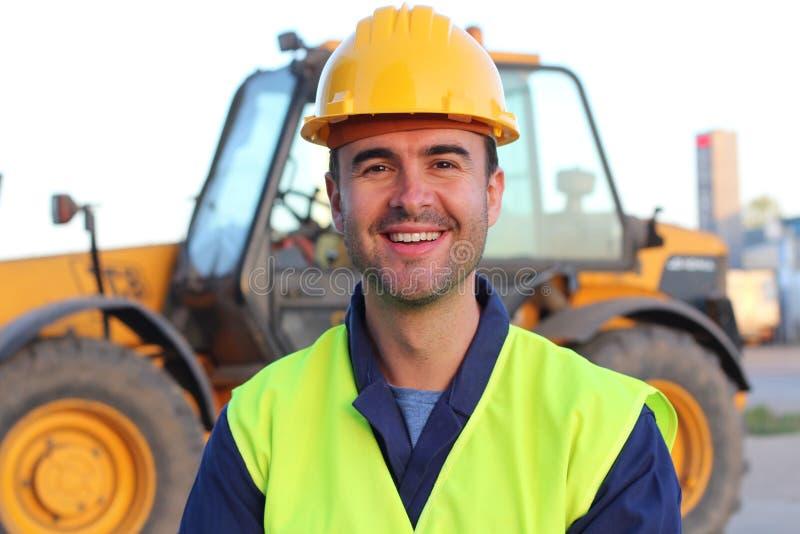 Fin professionnelle de conducteur d'industrie du bâtiment  images libres de droits