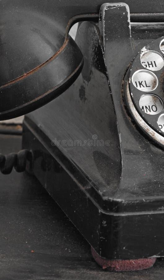 Fin rotatoire noire de téléphone vers le haut photo libre de droits