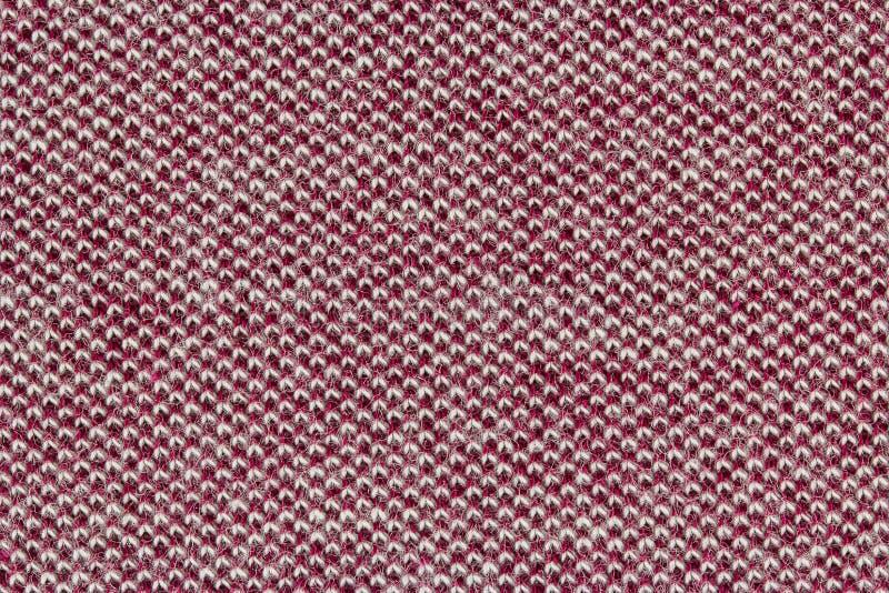 Fin rouge d'extrémité de tissu de coton vers le haut de texture photos stock