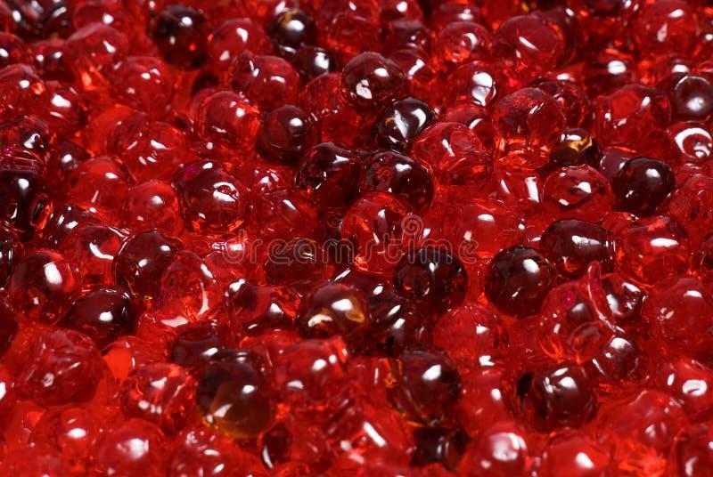 Fin rouge de caviar vers le haut images stock