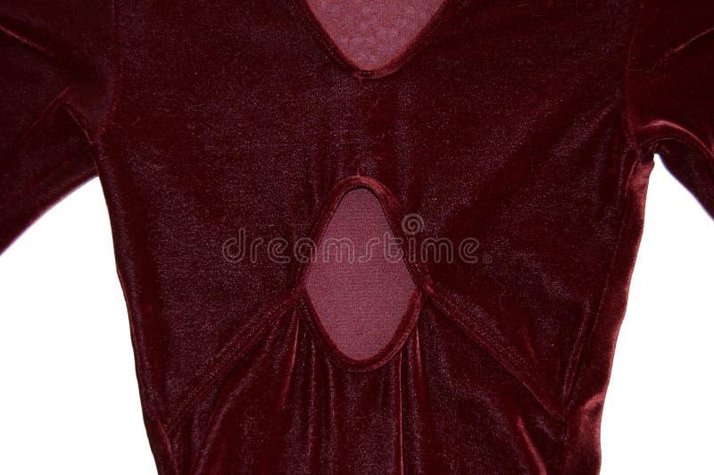 Fin rouge de robe de patinage artistique vers le haut de vue arrière photos libres de droits