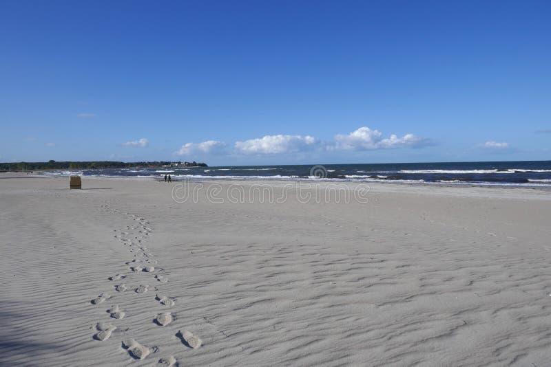 Fin sandstrand i Schleswig-Holstein, Tyskland fotografering för bildbyråer