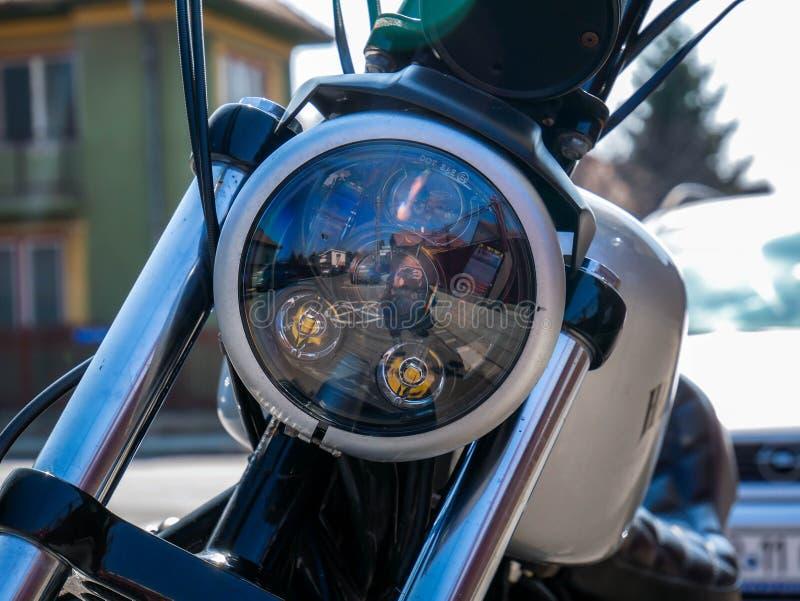Fin se garante de Harley Davidson vers le haut de tir image libre de droits