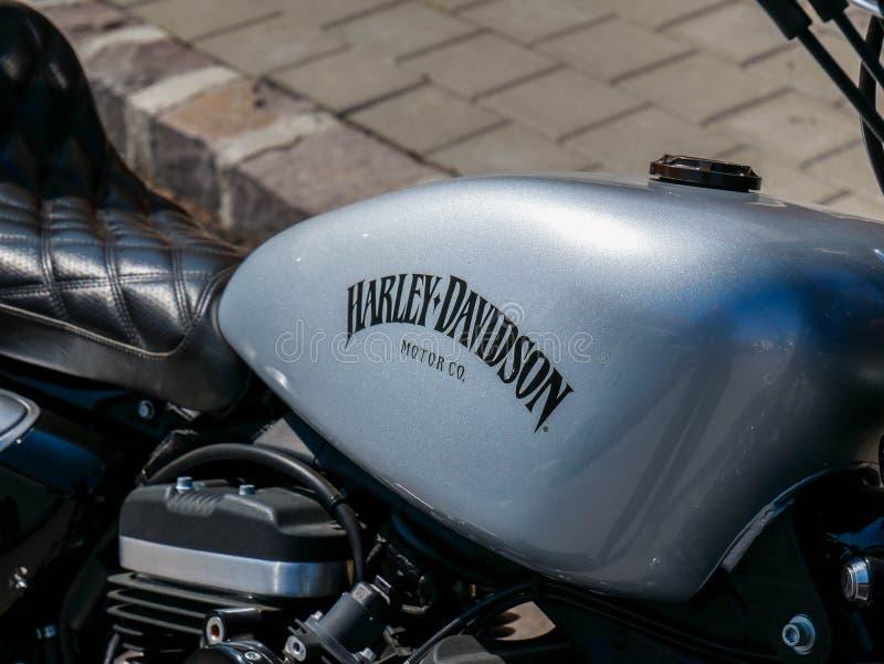 Fin se garante de Harley Davidson vers le haut de tir photographie stock