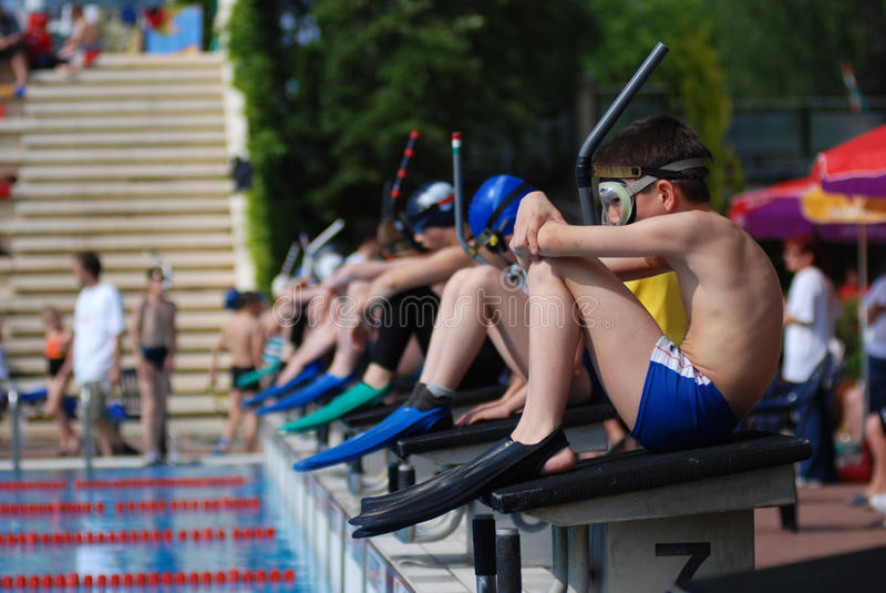 Fin swimming competition